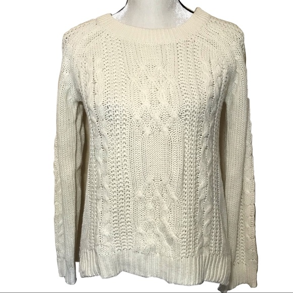 Pink Rose Sweaters - 3/$15 Pink rose cream cable knit sweater